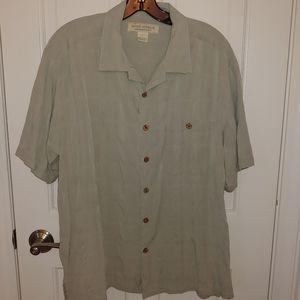 Island Republic silk vacation shirt men's large